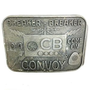 Breaker Breaker 10-4 CB Come On Convoy Belt Buckle